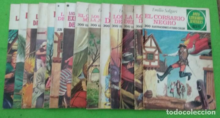 LOTE DE 14 JOYAS LITERARIAS JUVENILES TODOS DE EMILIO SALGARI - VER TODAS LAS FOTOS (Tebeos y Comics - Bruguera - Joyas Literarias)
