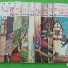 Tebeos: LOTE DE 14 JOYAS LITERARIAS JUVENILES TODOS DE EMILIO SALGARI - VER TODAS LAS FOTOS. Lote 190758951
