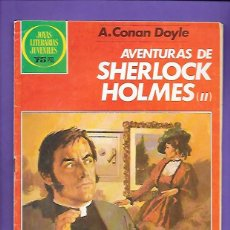 Tebeos: JOYAS LITERARIAS JUVENILES NUMERO 268 AVENTURAS DE SHERLOCK HOLMES II. Lote 191319161
