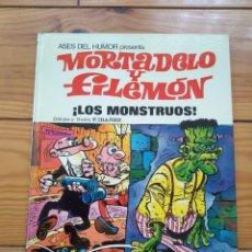 Tebeos: ASES DEL HUMOR PRESENTA: MORTADELO Y FILEMÓN ¡LOS MONSTRUOS! - 1973 - EXCELENTE ESTADO. Lote 191459242