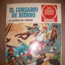 Tebeos: JOYAS LITERARIAS JUVENILES SERIE ROJA EL CORSARIO DE HIERRO29 LA GUERRA DEL CANADA. Lote 191668041
