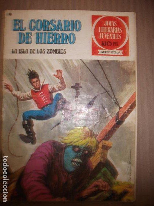 JOYAS LITERARIAS JUVENILES SERIE ROJA EL CORSARIO DE HIERRO35 LA ISLA DE LOS ZOMBIES (Tebeos y Comics - Bruguera - Joyas Literarias)
