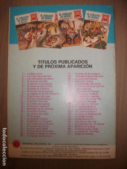 Tebeos: Joyas Literarias Juveniles Serie Roja El corsario de Hierro41 La boda de Benburry Buen estado - Foto 2 - 191704121