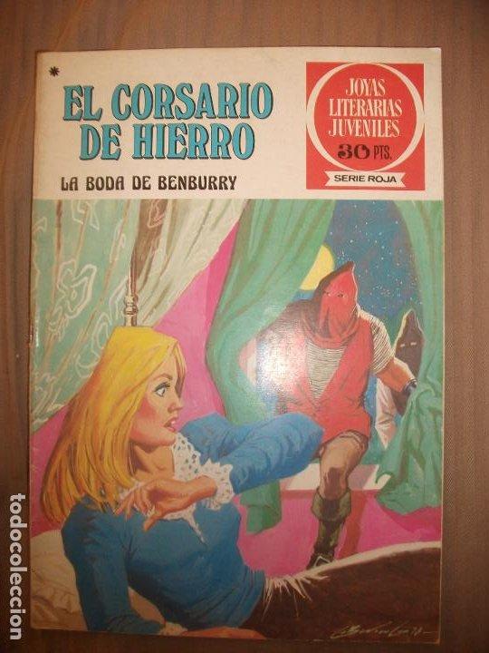JOYAS LITERARIAS JUVENILES SERIE ROJA EL CORSARIO DE HIERRO41 LA BODA DE BENBURRY BUEN ESTADO (Tebeos y Comics - Bruguera - Joyas Literarias)