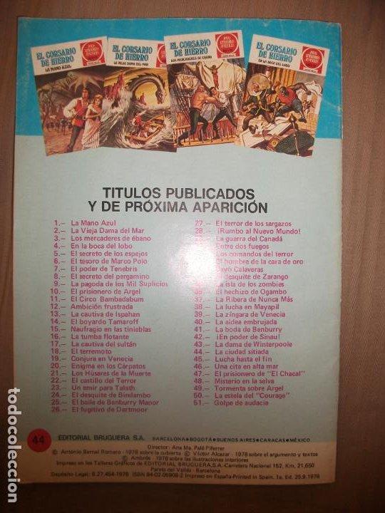 Tebeos: Joyas Literarias Juveniles Serie Roja El corsario de Hierro44 La ciudad sitiada Buen estado - Foto 2 - 191704313