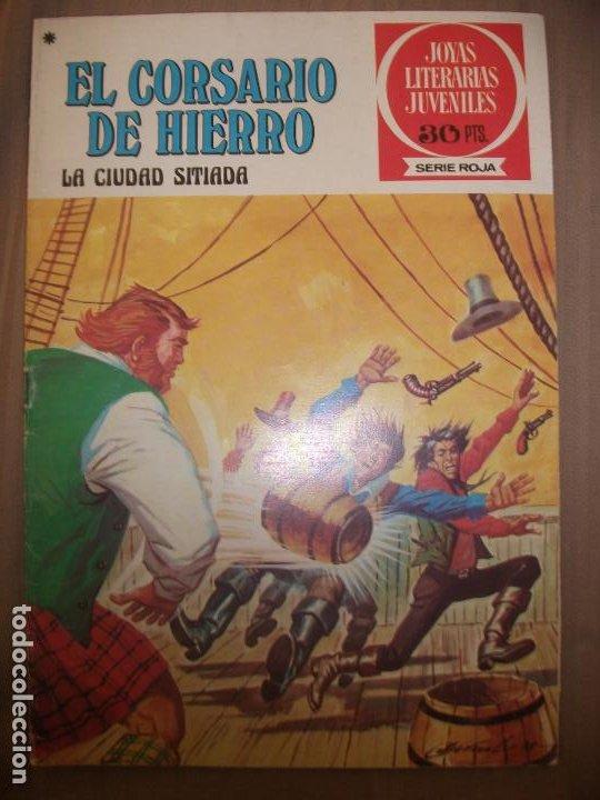 JOYAS LITERARIAS JUVENILES SERIE ROJA EL CORSARIO DE HIERRO44 LA CIUDAD SITIADA BUEN ESTADO (Tebeos y Comics - Bruguera - Joyas Literarias)