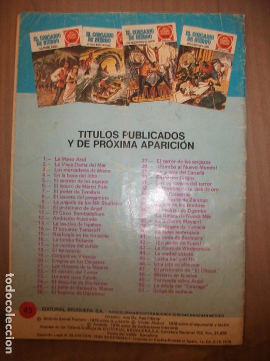Tebeos: Joyas Literarias Juveniles Serie Roja El corsario de Hierro45 Lucha hasta el fin - Foto 2 - 191704357