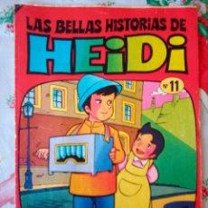 Tebeos: LAS BELLAS HISTORIAS DE HEIDI- Nº 11 -GRAN TRABAJO DE JAN-1975-MUY DIFÍCIL-BUENO-LEAN-2958. Lote 191824620