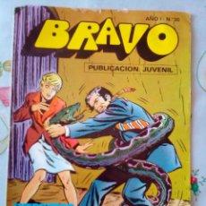 Tebeos: BRAVO Nº 30 -INSPECTOR DAN- Nº 15 -MAGISTRAL JORGE MACABICH-UN ASESINO ANDA SUELTO-1976-LEAN-2974. Lote 191923007