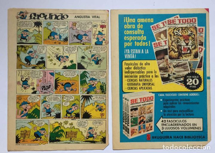 Tebeos: Lote 2 tebeos: DIN DAN. Nº 286 y 310 (Bruguera, 1973-74) 1ª Edición. Originales - Foto 2 - 191927395