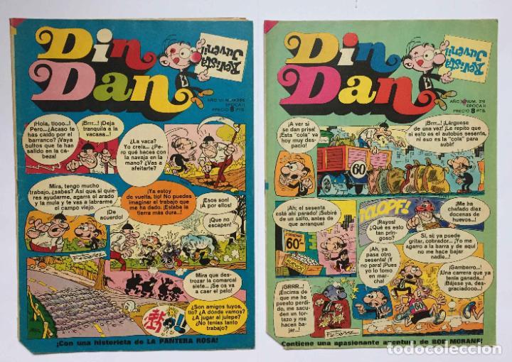 LOTE 2 TEBEOS: DIN DAN. Nº 286 Y 310 (BRUGUERA, 1973-74) 1ª EDICIÓN. ORIGINALES (Tebeos y Comics - Bruguera - Din Dan)