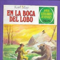 Tebeos: JOYAS LITERARIAS JUVENILES NUMERO 176 EN LA BOCA DEL LOBO. Lote 192029216