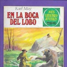 Tebeos: JOYAS LITERARIAS JUVENILES NUMERO 176 EN LA BOCA DEL LOBO. Lote 192029242