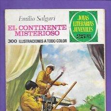 Tebeos: JOYAS LITERARIAS JUVENILES NUMERO 174 EL CONTINENTE MISTERIOSO. Lote 192029453