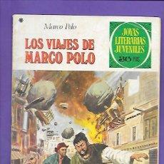Tebeos: JOYAS LITERARIAS JUVENILES NUMERO 166 LOS VIAJES DE MARCO POLO. Lote 192050252