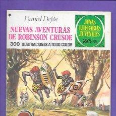 Tebeos: JOYAS LITERARIAS JUVENILES NUMERO 165 NUEVAS AVENTURAS DE ROBISON CRUSOE. Lote 192050780