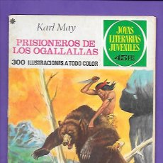 Tebeos: JOYAS LITERARIAS JUVENILES NUMERO 163 PRISIONEROS DER LOS OGALLALLAS. Lote 192069170