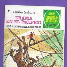Tebeos: JOYAS LITERARIAS JUVENILES NUMERO 162 DRAMA EN EL PACIFICO. Lote 192071703