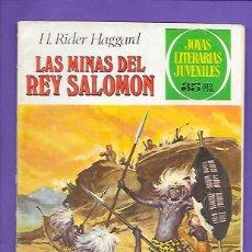 Tebeos: JOYAS LITERARIAS JUVENILES NUMERO 156 LAS MINAS DEL REY SALOMON. Lote 192077442