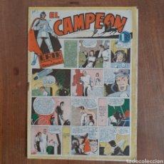 Tebeos: EL CAMPEÓN N° 3 / ERIK EL ENIGMA VIVIENTE - RESUCITADO / AÑO 1948 BRUGUERA. Lote 192494962