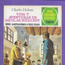 Tebeos: JOYAS LITERARIAS JUVENILES NUMERO 148 VIDA Y AVENTURAS DE NICOLAS NICKLEBY. Lote 192691925