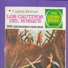 Tebeos: JOYAS LITERARIAS JUVENILES NUMERO 132 LOS CAUTIVOS DEL BOSQUE. Lote 192728296