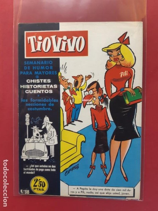TIO VIVO Nº 38 ESTADO IMPECABLE 1ª EPOCA (Tebeos y Comics - Bruguera - Tio Vivo)