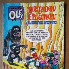 Tebeos: MORTADELO Y FILEMÓN OLÉ N°310: A LA CAZA DEL CHOTTA (BRUGUERA, 1985). CON EL BOTONES SACARINO. Lote 193389287