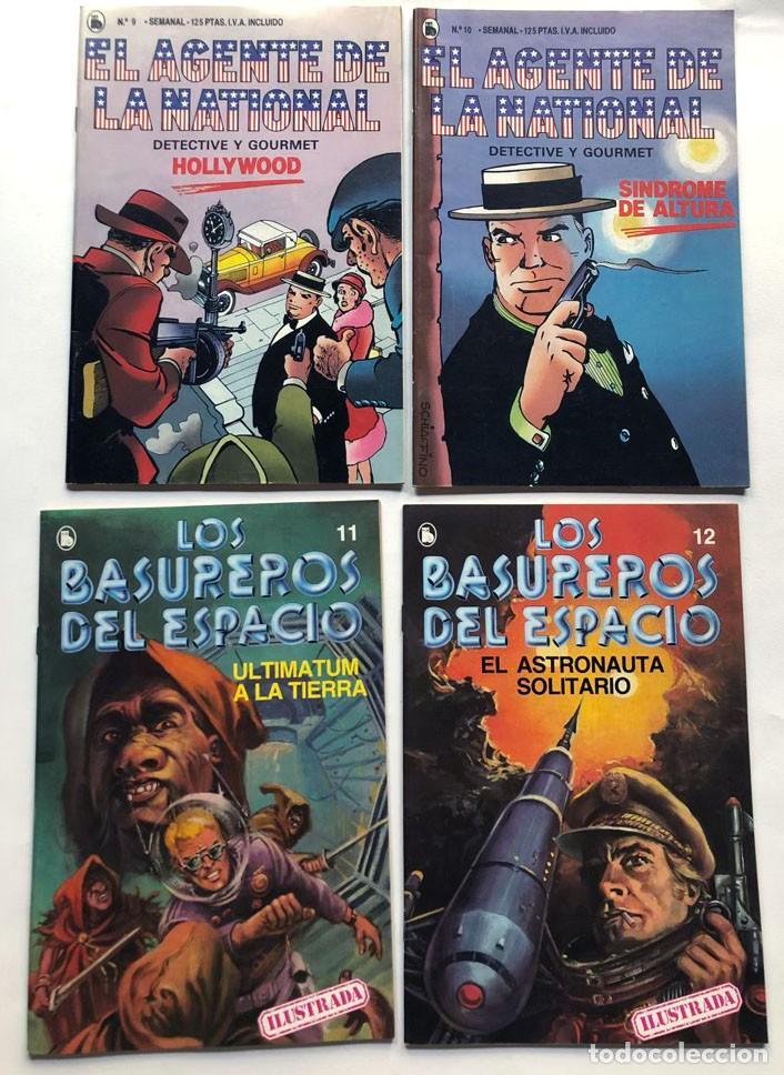 LOS BASUREROS DEL ESPACIO / EL AGENTE DE LA NATIONAL / 4 EJEMPLARES / SIN USAR - NUEVOS / BRUGUERA (Tebeos y Comics - Bruguera - Otros)