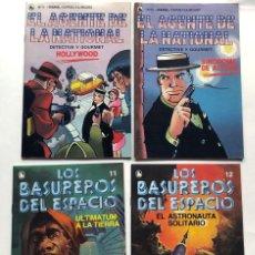 Tebeos: LOS BASUREROS DEL ESPACIO / EL AGENTE DE LA NATIONAL / 4 EJEMPLARES / SIN USAR - NUEVOS / BRUGUERA. Lote 193393177