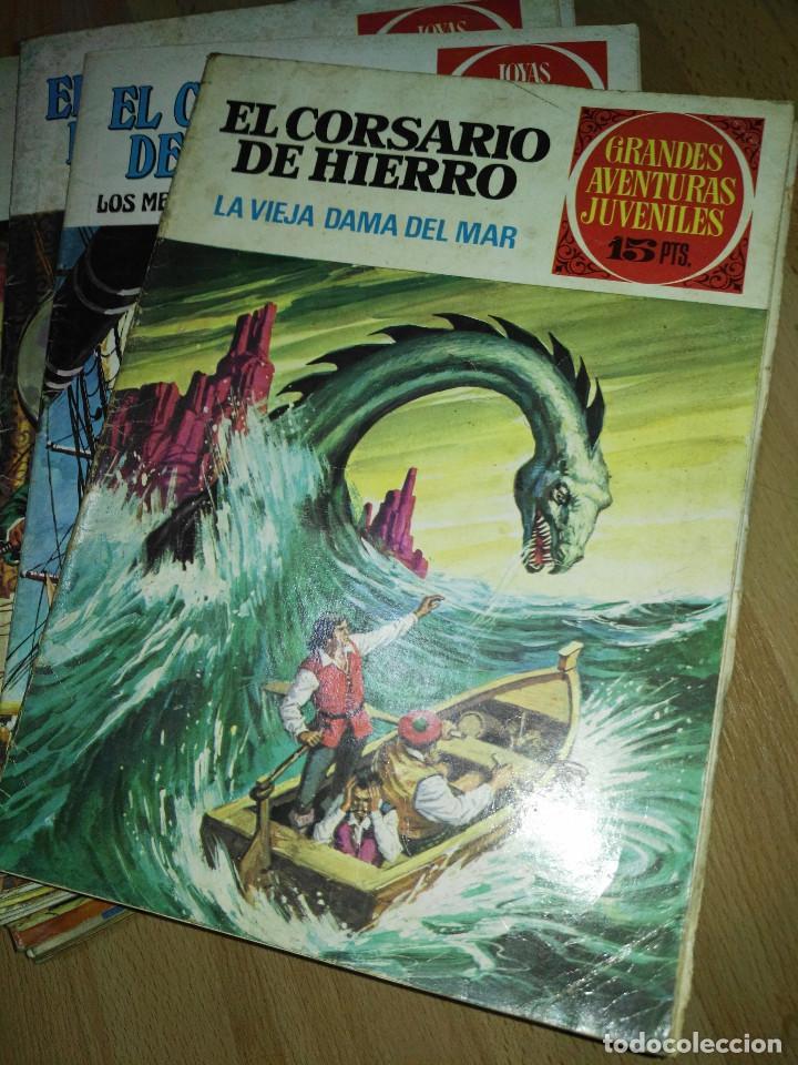 Tebeos: Gran lote de 37 números del Corsario de Hierro . Bruguera - Foto 2 - 193430268