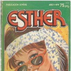 Tebeos: ESTHER. Nº 4. SOLO PARA ROMANTICAS. 1983. C-16. Lote 193823782