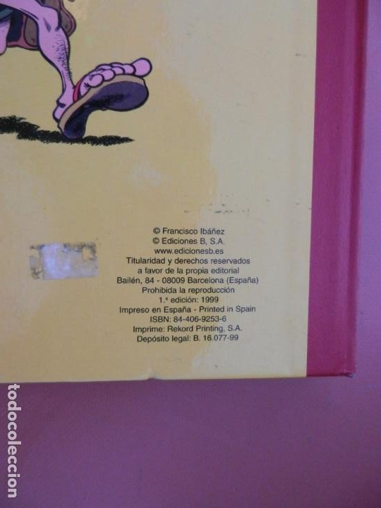 Tebeos: SUPER HUMOR Nº 31 - MORTADELO Y FILEMÓN - EDICIONES B - 1ª EDICIÓN 1999. - Foto 4 - 193925101