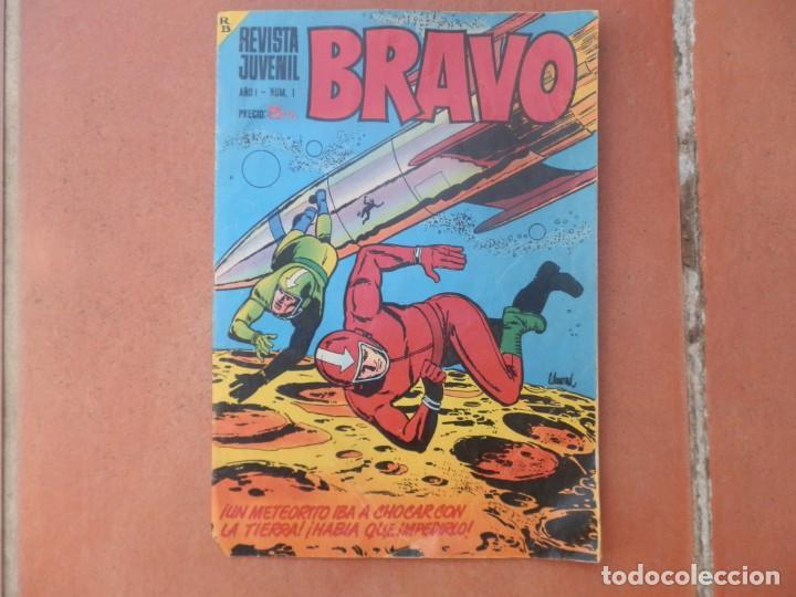REVISTA JUVENIL BRAVO AÑO I, Nº 1 BRUGUERA. PRECIO 5 PTS. (Tebeos y Comics - Bruguera - Bravo)