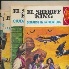 Tebeos: LOTE 4 EPISODIOS. EL SHERIFF KING. DISPAROS EN LA FRONTERA Y TRES MAS. Lote 193948596