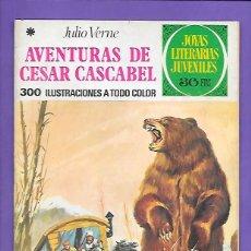 Tebeos: JOYAS LITERARIAS JUVENILES NUMERO 104 AVENTURAS DE CESAR CASCABEL. Lote 194080248