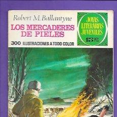 Tebeos: JOYAS LITERARIAS JUVENILES NUMERO 86 LOS MERCADERES DE PIELES. Lote 194190593