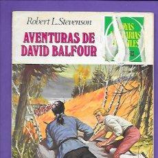 Tebeos: JOYAS LITERARIAS JUVENILES NUMERO 82 AVENTURAS DE DAVID BALFOUR. Lote 194195508