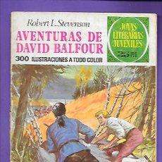 Tebeos: JOYAS LITERARIAS JUVENILES NUMERO 82 AVENTURAS DE DAVID BALFOUR. Lote 194195926