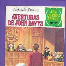 Tebeos: JOYAS LITERARIAS JUVENILES NUMERO 77 AVENTURAS DE JOHN DAVYS. Lote 194199373