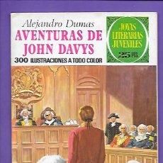Tebeos: JOYAS LITERARIAS JUVENILES NUMERO 77 AVENTURAS DE JOHN DAVYS. Lote 194199496