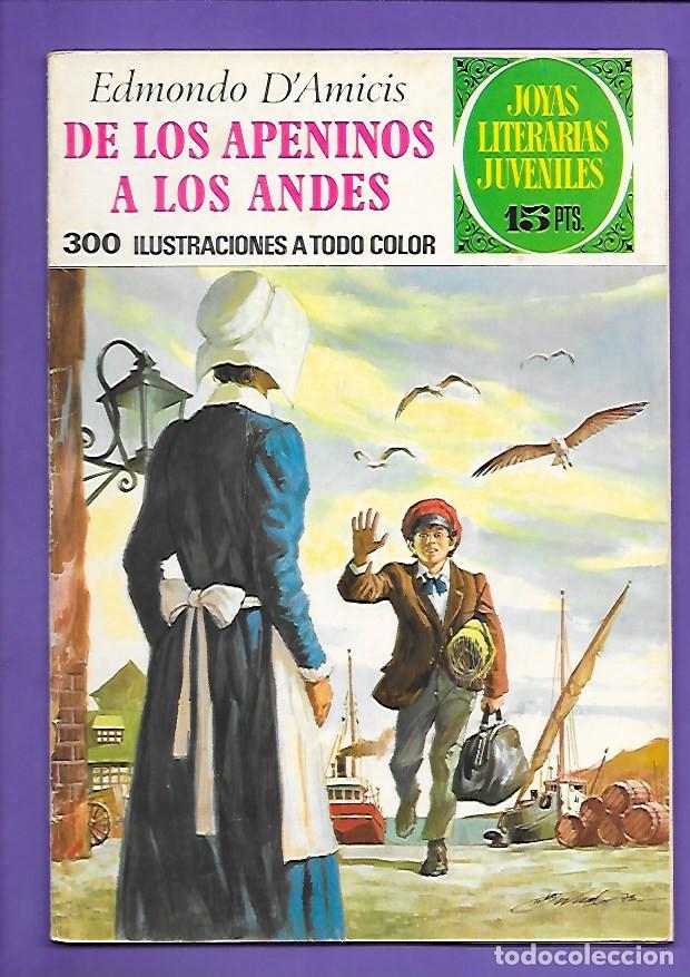 JOYAS LITERARIAS JUVENILES NUMERO 75 DE LOS APENINOS A LOS ANDES (Tebeos y Comics - Bruguera - Joyas Literarias)