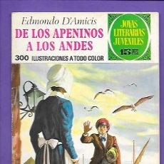 Tebeos: JOYAS LITERARIAS JUVENILES NUMERO 75 DE LOS APENINOS A LOS ANDES . Lote 194206877