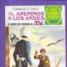 Tebeos: JOYAS LITERARIAS JUVENILES NUMERO 75 DE LOS APENINOS A LOS ANDES . Lote 194206963