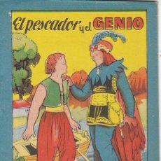 Tebeos: ANTIGUO MINI CUENTO DE EL PESCADOR Y EL GENIO CON PUBLICIDAD DE CHOCOLATE CORTES (BRUGUERA 1959). Lote 194238881