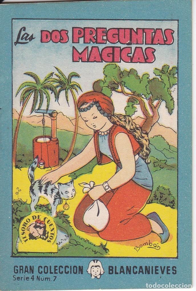 ANTIGUO MINI CUENTO DE LAS 2 PREGUNTAS MAGICAS CON PUBLICIDAD DE CHOCOLATE CORTES (BRUGUERA 1959) (Tebeos y Comics - Bruguera - Otros)