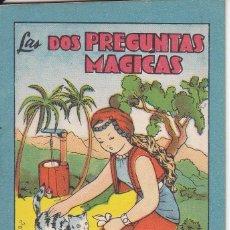 Tebeos: ANTIGUO MINI CUENTO DE LAS 2 PREGUNTAS MAGICAS CON PUBLICIDAD DE CHOCOLATE CORTES (BRUGUERA 1959). Lote 194238922