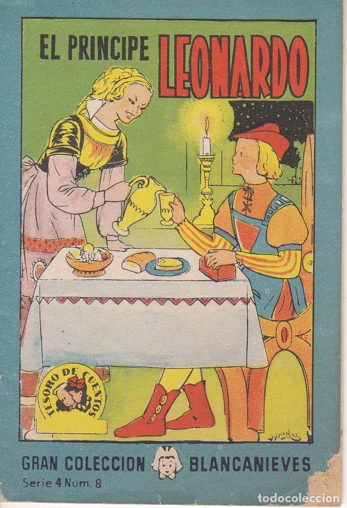 ANTIGUO MINI CUENTO DE EL PRINCIPE LEONARDO CON PUBLICIDAD DE CHOCOLATE CORTES (BRUGUERA 1959) (Tebeos y Comics - Bruguera - Otros)