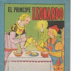 Tebeos: ANTIGUO MINI CUENTO DE EL PRINCIPE LEONARDO CON PUBLICIDAD DE CHOCOLATE CORTES (BRUGUERA 1959). Lote 194238998