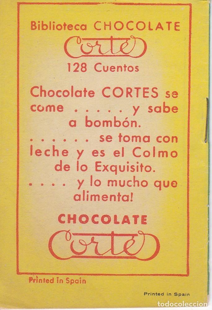Tebeos: ANTIGUO MINI CUENTO DE EL PRINCIPE LEONARDO CON PUBLICIDAD DE CHOCOLATE CORTES (BRUGUERA 1959) - Foto 2 - 194238998
